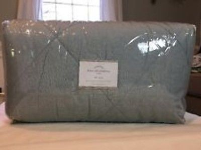 Pottery Barn Linen Silk Comforter Full/Queen Porcelain Blue, NWT
