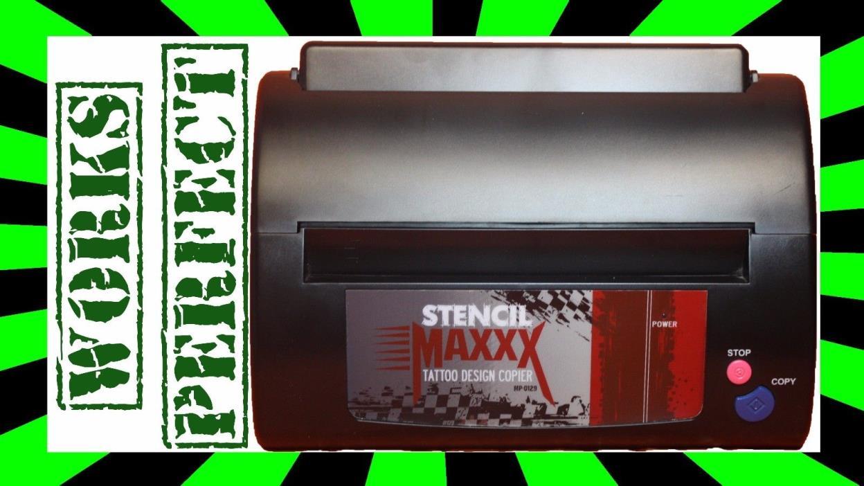 Tattoo Stencil Maker Copier Hectograph Transfer Thermal Printer Flash Machine