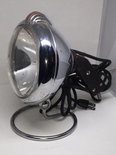 Vintage Unity Spot Light Fog Ge Bulb Marine Fire Truck Car Rat Rod Lamp Tested!