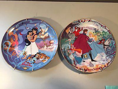 Disney Aladdin & Sleeping Beauty Bradford Exchange Collector Music Plates