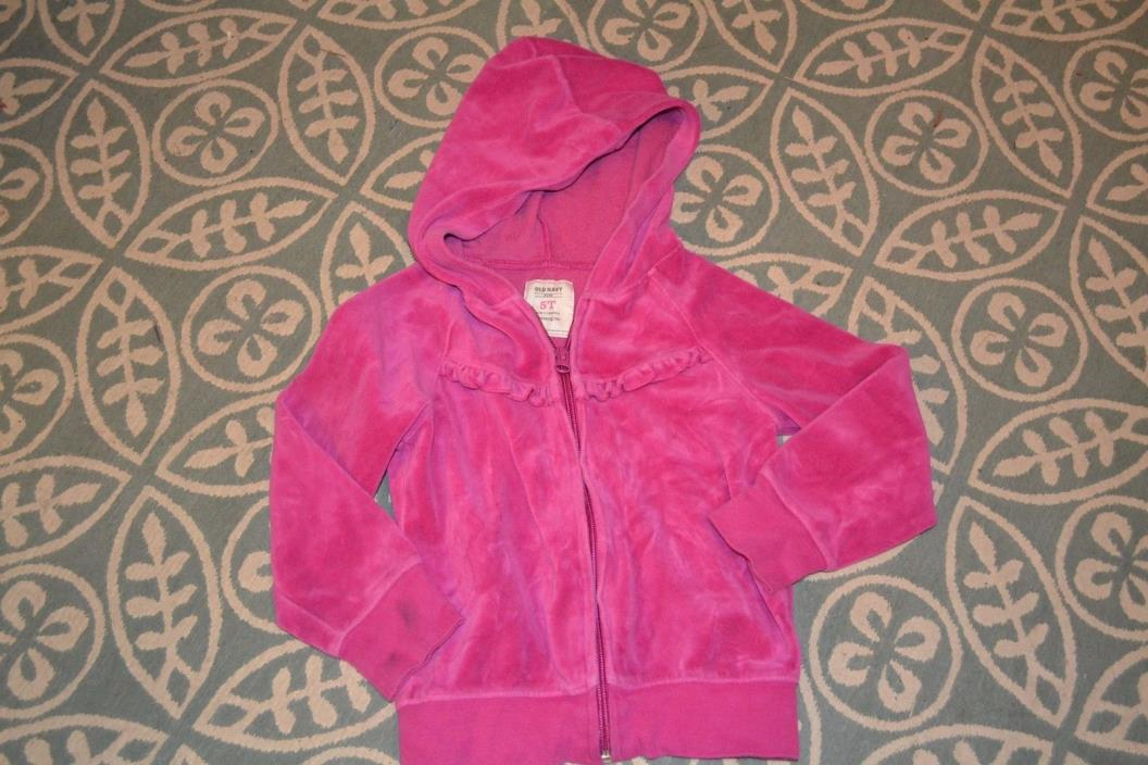 Girls zip up Hoodie PINK size 5t Old Navy