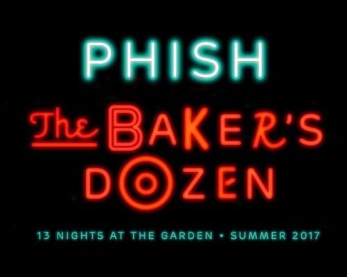 ROW 6 (1) PHISH BAKERS DOZEN ALL 13 SHOWS TICKETS PACKAGE MSG NY 7/21-8/6 Sec208