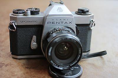 Vintage Asahi Pentax Spotmatic SP II SMC Takumar 28mm f/3.5 Camera & Lens / M42