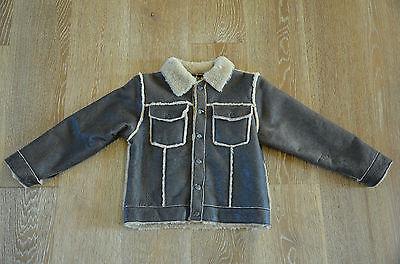 Vecchio Ponte Boys Shearling Lamb Coat jacket Size L/6 NWT ITALY!