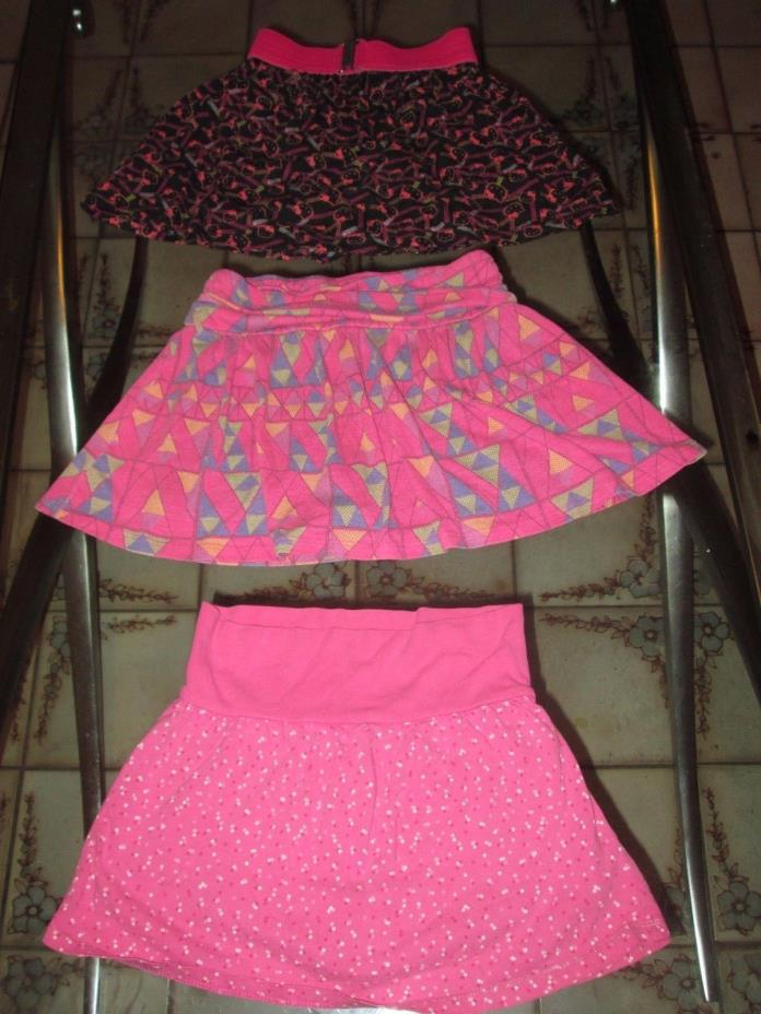 Lot of 3 girls skirts clothes Hello Kitty  faded glory size 4-6