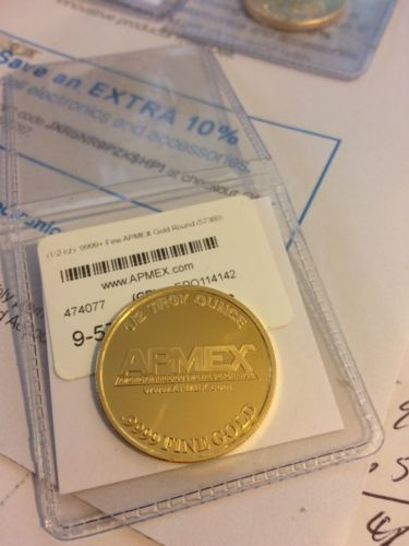 1/2 TROY OUNCE .9999 FINE GOLD ~ APMEX The American Precious Metals Exchange