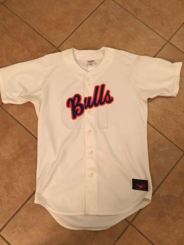 Durham Bulls Minor League Baseball Jersey Rawlings  Size 42 Button Up Stitched