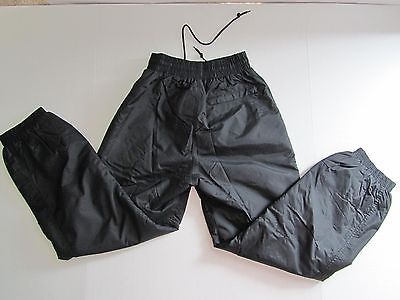 Women's Skigear Small Black Elastic Waistband & Cuff Zip Pocket Lined Snow Pants