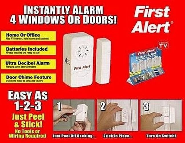 First Alert Alarm Premium Home Security For Windows or Doors Set Of 2 Only*