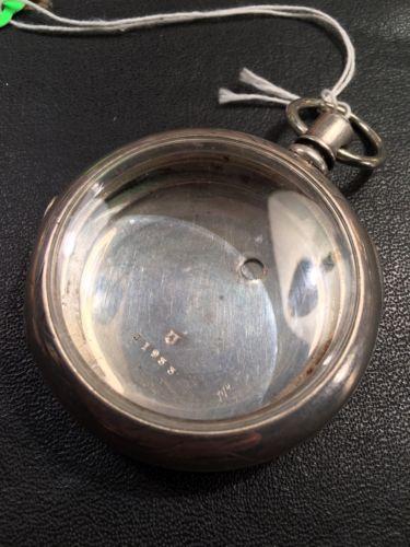FAHYS 3oz COIN SILVER POCKET WATCH CASE ORIGINAL PATINA pre 1878 Size 18 KW Rare