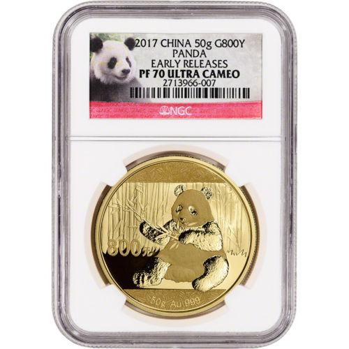 2017 China Gold Panda Proof (50 g) 800 Yuan - NGC PF70 UCAM Early Releases Panda