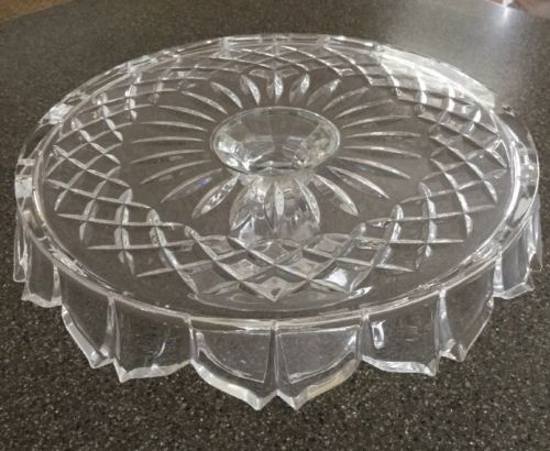 Shannon By Godinger Lead Crystal Pedestal Cake Plate, 11