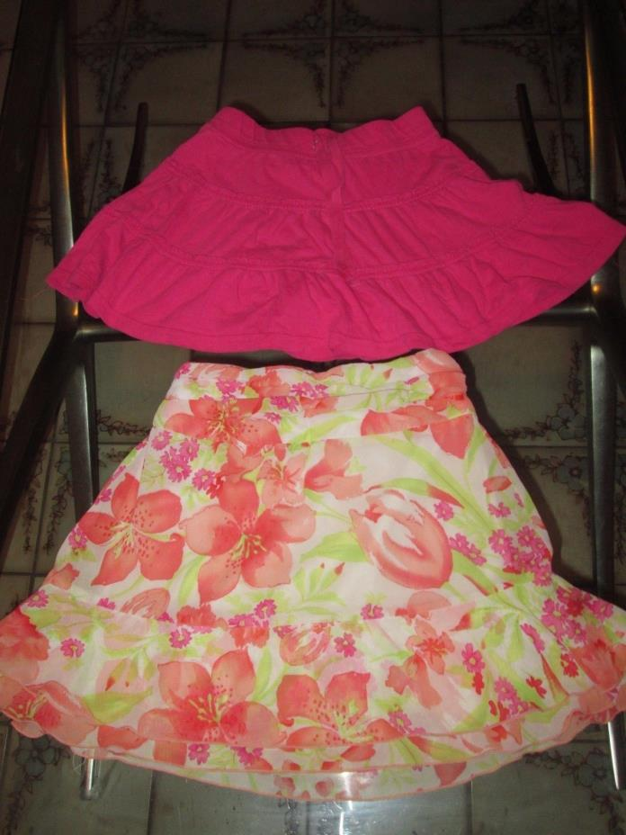 Lot of 2 total girl  skirts clothes  size 7-8