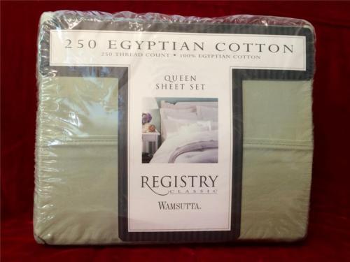 Registry Classic Wamsutta Queen Sheet Set 250 Ct. 100% Egyptian Cotton