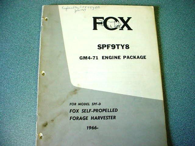 Fox GM4-71 Engine Package Manual
