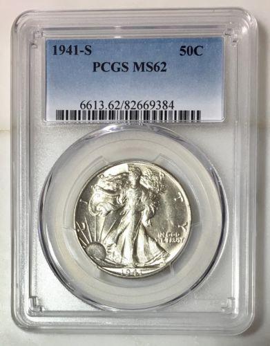1941 S Walking Liberty PCGS MS62 ***Rev Tye's Coin Stache*** #9384