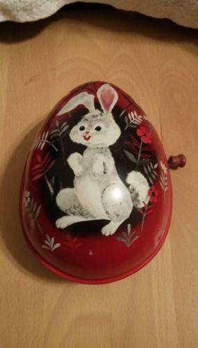 Vintage 1950s Metal Windup Mattel Easter Egg Toy
