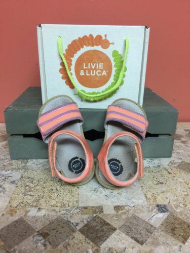 Livie Luca Taffy Sandal In Peach Toddler  Size 8