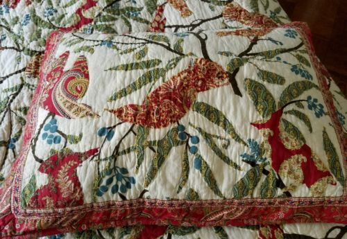Two (2) Pottery Barn pollie patchwork quilt shams standard  red BRAND NEW