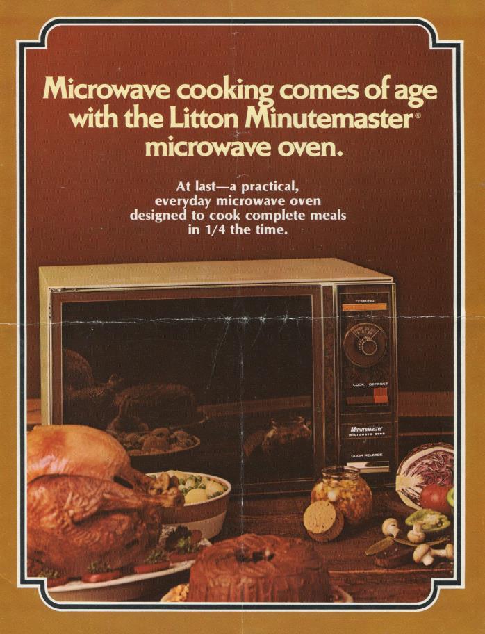 vintage Litton Minutemaster microwave oven sales brochure 1972