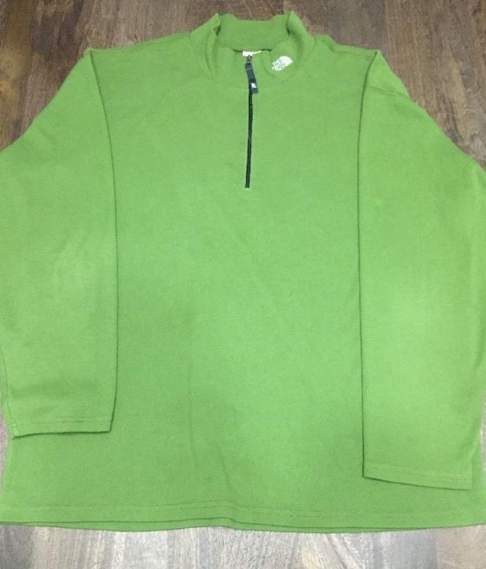 The North Face Mens Green 1/4 Zip Pullover Flight Series Vapor Wick Size XXL
