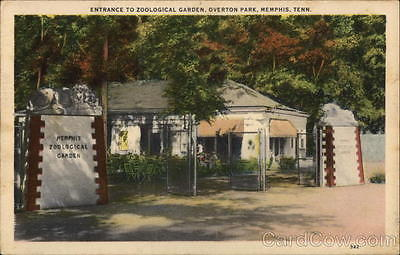 Memphis TN Entrance to Zoological Garden,Overton Park Shelby County Tennessee PC