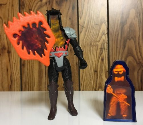 vintage Supernatural Burnheart w/shield + See Thru ghostling 1987 Tonka hologram