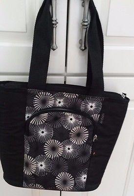 Embark Ladies Lunchbox black & Print Lunch Bag Crush Resistant