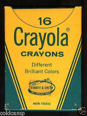 Vintage Box No. 16 Crayola Crayons - Brilliant Colors Crayon Binney & Smith 70s