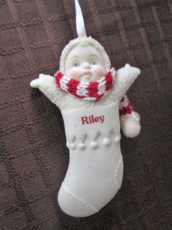 Snowbabies Personalized Porcelain Ornament from Department 56 - Riley - 3.25