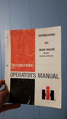 International 810 Grain Header Operator's Manual Case IH