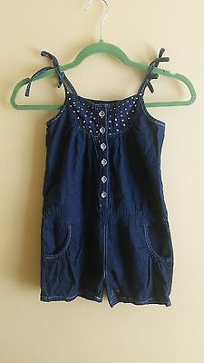 Girls' STAR RIDE -100% Cotton- Blue Jeans Romper Size: 7/8