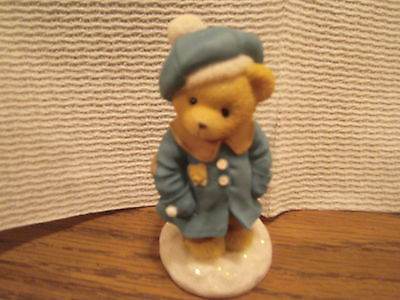 Cherished Teddies figurine Alyssa You warm my soul Enesco 1999 Hillman Blue coat
