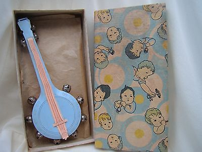 Plastic Playthings Inc. Vintage Banjo Nursery Toy Musical Instrument w/ Box 0010