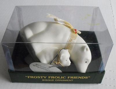 Dept 56 Frosty Frolic Friends Polar Bears Figurine Ornamen Never Used Orig Box