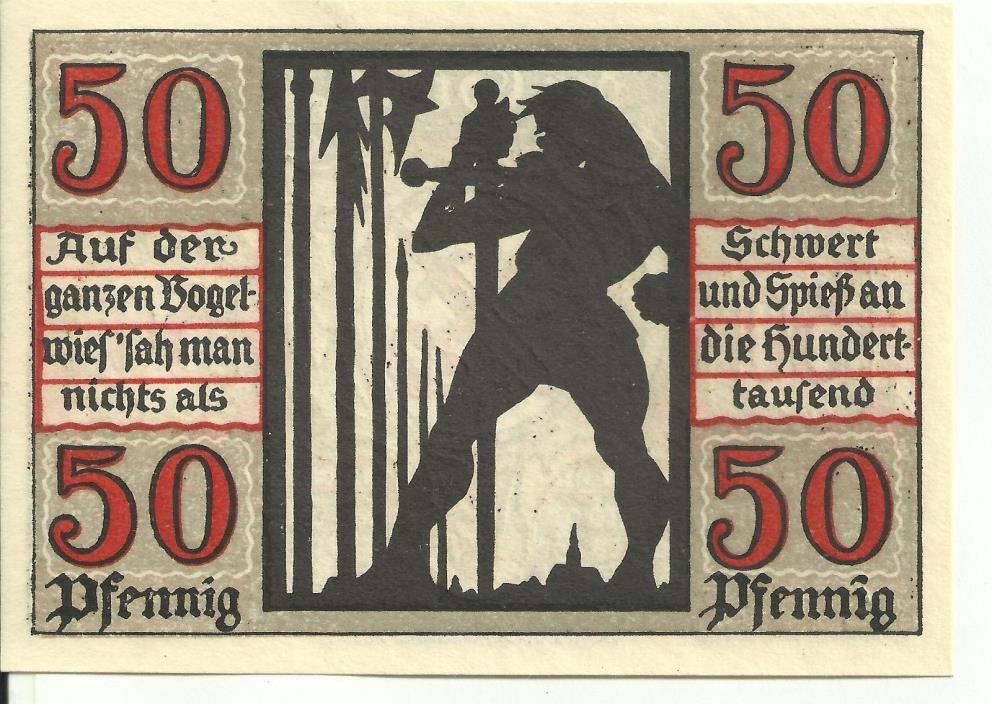Germany,  Naumburg 50 Pfennig 1921 Notgeld UNC MINT  024087