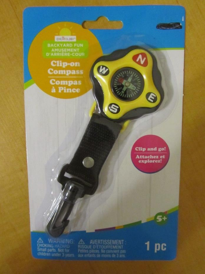 V3600 Clip-on Compass, Creatology Backyard Fun, Clip and Go, Children Ages 5+