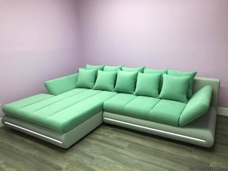 New Modern Sofa with LED lights