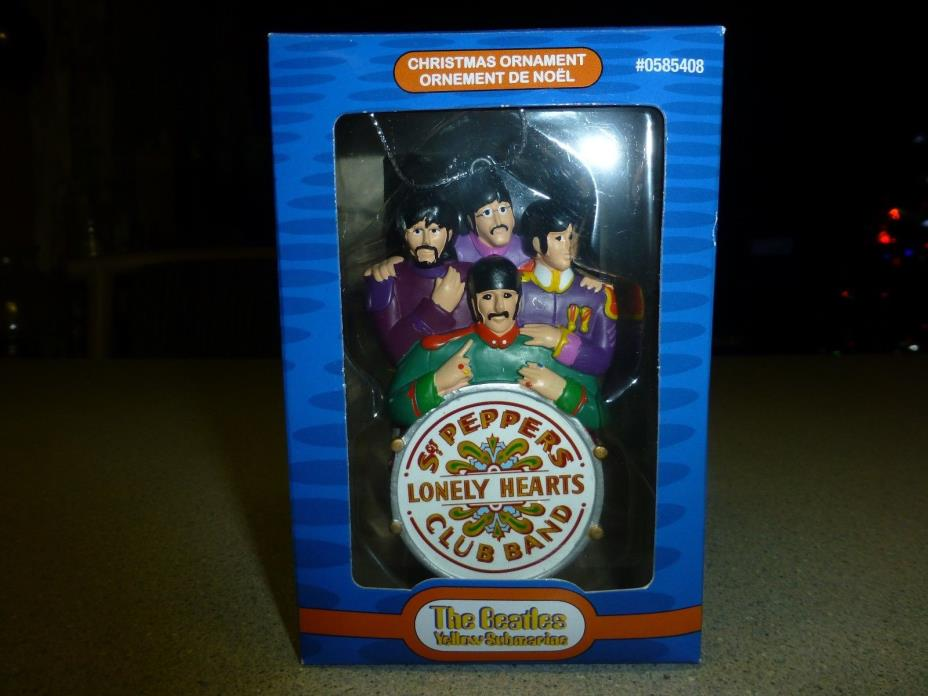 Beatles Sgt Peppers Lonley Heart Band Christmas Ornament, Kurt Adler