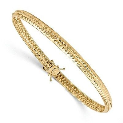 14K YELLOW GOLD POLISHED & TEXTURED 8