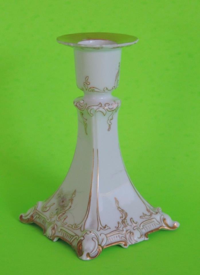 Rosenthal St Cloud RC Crossed Swords Crown Porcelain Candlestick Floral