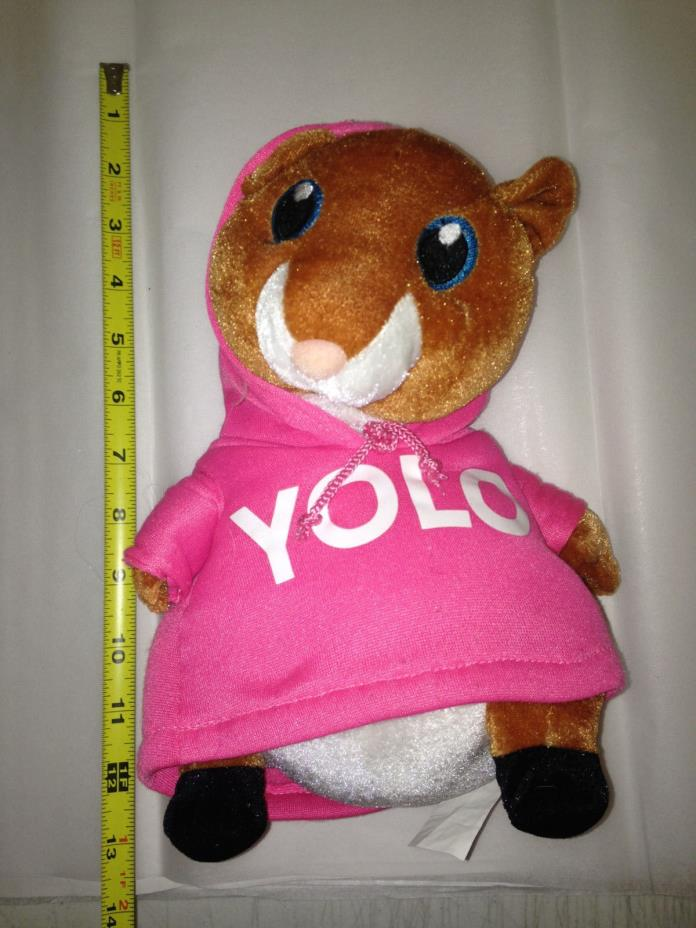 YOLO Hamster W/ HOODIE Stuffed Plush Animal Sure Shot 11