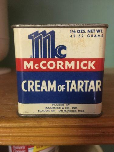 Vintage McCormick Cream Of Tartar Spice Tin