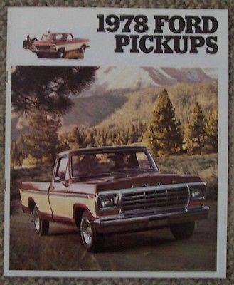 1978 Ford Pickups Original Sales Brochure Ranger XLT, Lariat, Ranger & Custom