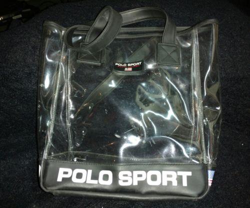 Vtg 90s Ralph Lauren Polo Sport Clear 13
