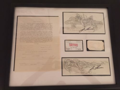 1/1 Jose Canseco Signed Original Tattoo Hand Drawn Stencils Left Right Biceps 33