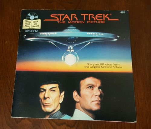 STAR TREK The Motion Picture 24-Page Book and Record 1983 33rpm 7