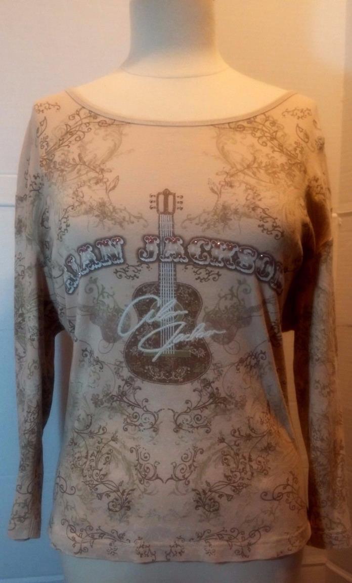 Womens Alan Jackson Fan Wear ~ Embellished Long Sleeved Shirt ~ Sz XXL 2X