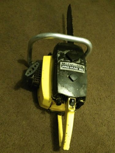 VINTAGE MCCULLOCH PRO MAC 60 COLLECTABLE CHAINSAW