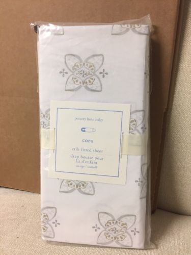 1 Pottery Barn Kids Cora Crib Fitted sheet NWT